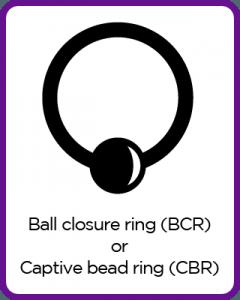Ball closure ring or Captive bead ring